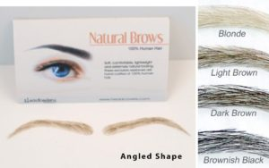 Human hair eyebrows Angled