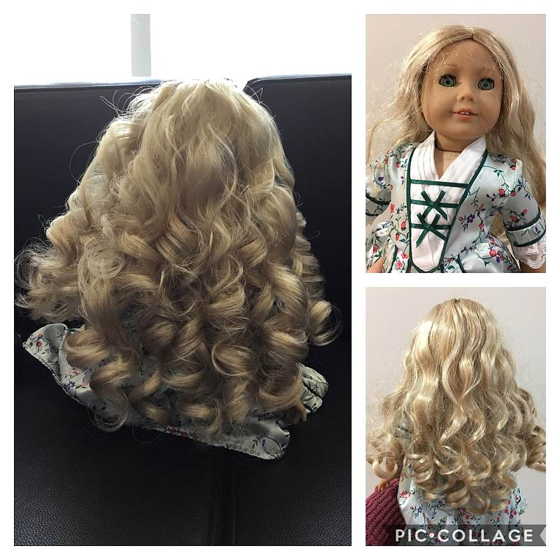 Dolls that have had their hair done at Wigful Thinking